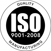 ISO quality manufacturing badge