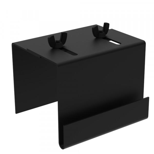"Partition Mounting Bracket - 3""H x 2""W x 4""D - Steel - Flat Black"