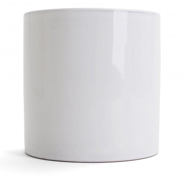 "Round Desktop Container - 5.75""H x 5.25""Dia. - White"