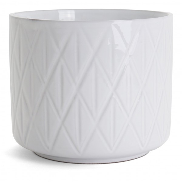 """Packard Office Round Plant Pot - 8.5""""H x 10"""" Dia. - Large White"""