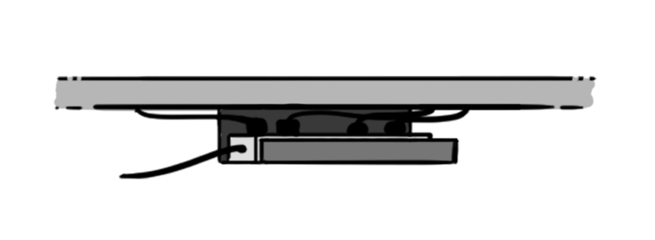 Under Desk Cable Tray