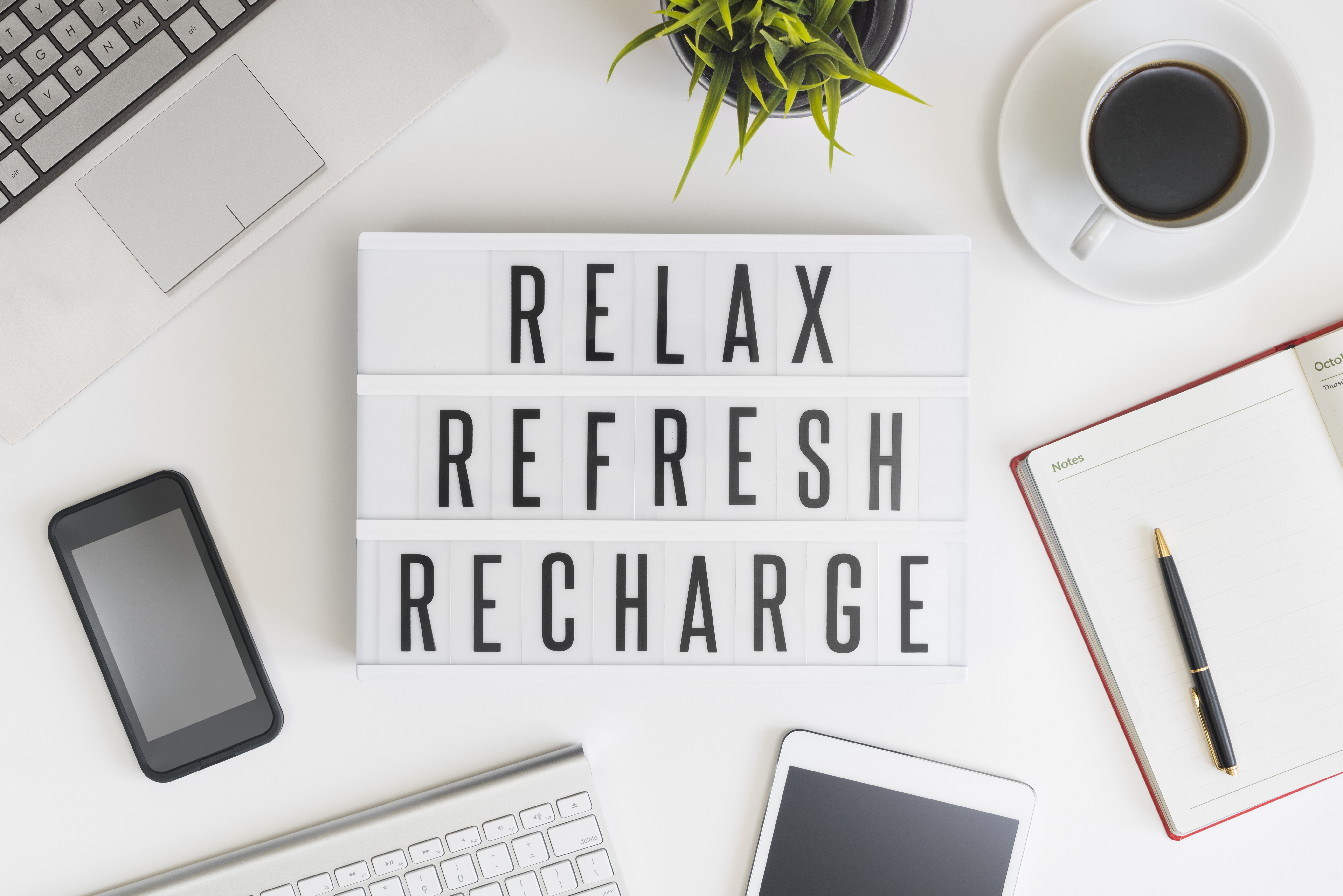 Take Breaks to Relax Refresh and Recharge